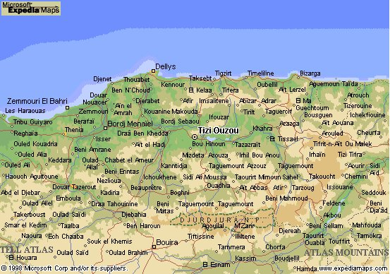 Carte Kabylie Detaillee.Algerie Carte Geographique